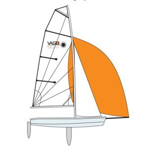 Vago gennaker orange sail
