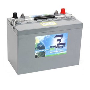 Crown Embassy 12V AGM 100 Ah maintenance free deep cycle battery group 27