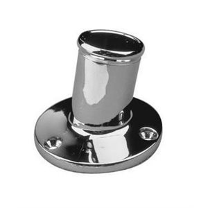 Flag pole socket chrome 1""