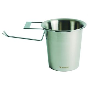 Champagne bucket with  hanger 20cm x 20cm stainless