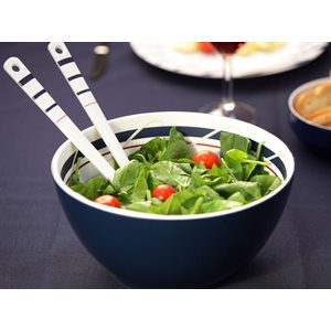 Cannes salad bowl with salad servers