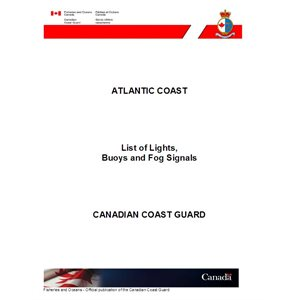 List of Lights, Buoys and Fog Signals Atlantic