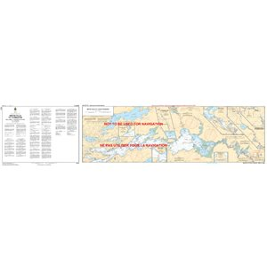 Canadian hydrographic service charts: Smith Falls to / à Kingston including / y compris Tay River to / à Perth