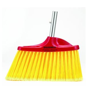 Angled floor broom , easily and positively locks into any Shurhold handle