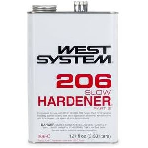 West 206-C epoxy harderner slow 3.58L