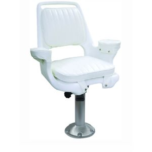 "Captain's chair package with chair, cushions, mounting plate, 15"" fixed pedestal and seat spider"