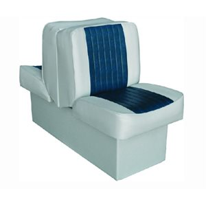 "Deluxe Lounge seat grey / navy 14-1  /  4"" D x 17-1  /  2"" W x 28"" H 45-1  /  2"""