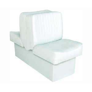 "Deluxe Lounge seat white 14-1  /  4"" D x 17-1  /  2"" W x 28"" H 45-1  /  2"""