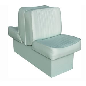 "Deluxe Lounge seat grey 14-1 / 4"" D x 17-1 / 2"" W x 28"" H 45-1 / 2"""