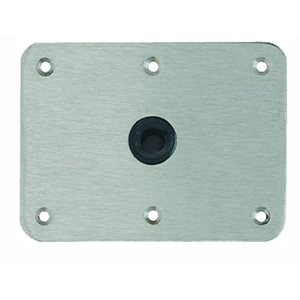 "Lock-N-Pin base plate 4"" X 8"" stainless"