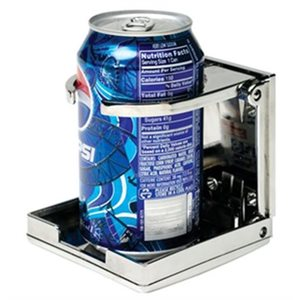 Drink holder folding adjustable chrome