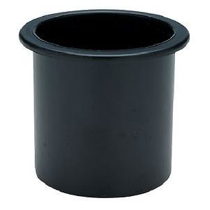 Drink holder plastic recessed black