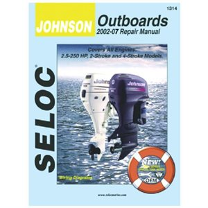 Seloc repair manual for Johnson /  Evinrude outboards  1.5-125hp  1958-1972