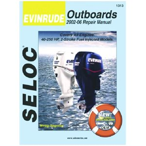 Seloc repair manual for Evinrude fuel Injected outboards  2002-2014  15-300 hp