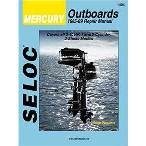Seloc repair manual for mercury outboards  1-2 Cyl, 2-40  HP, 1965-1989
