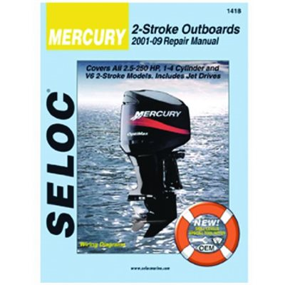 Seloc repair manual for Mercury Outboards  2.5-300 hp  2001-2014