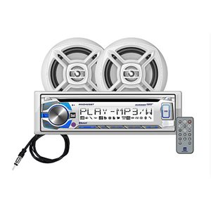 Dual digital cd  /  stereo receiver kit with speakers and  Bluetooth