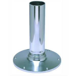 "EEz-in fixed height 2.875"" seat base, smooth stanchion, satin anodized finish 12"""