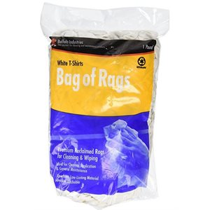 Bag of rags t-shirt white 1lb