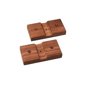 Teak fishing rod holders (2)