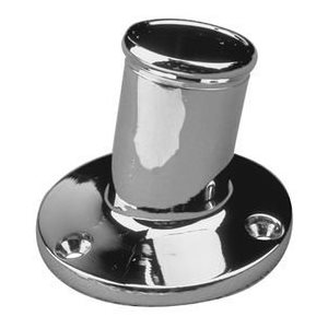 "Flag pole socket 3 / 4"" chrome"