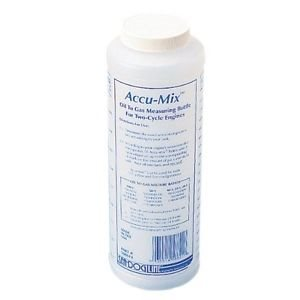 Accu-mix oil to gas measureing bottle