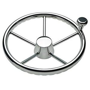 "Steering wheel with knob 13.5""  stainless"