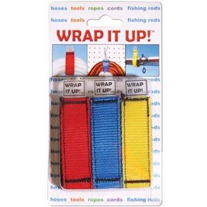 Wrap it up, hook and loop wraps  3pk