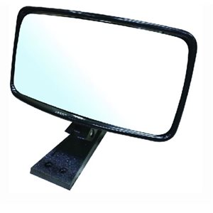 "Universal Boat Mirror  ABS housing with aluminum mounting bracket  8""  x 4"""