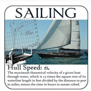 Sous-verre 'Hull speed' 4""