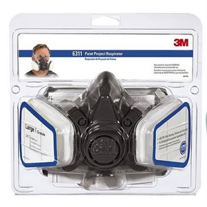 Dual cartridge respirator large