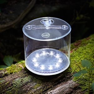 Luci inflatable solar light ''Outdoor 2.0'' clear with straps