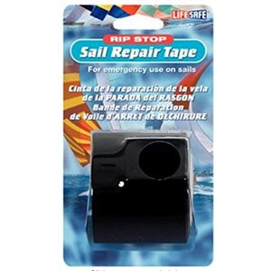 "Sail repair tape rip stop black 2"" x 15'"