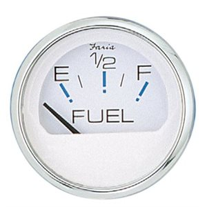 Fuel guage Chesapeake stainless  /  white