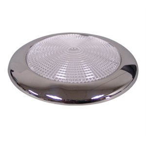 Dome light  red LED stainless steel