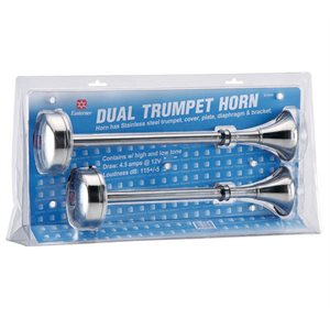 Horn trumpet double stainless 12v
