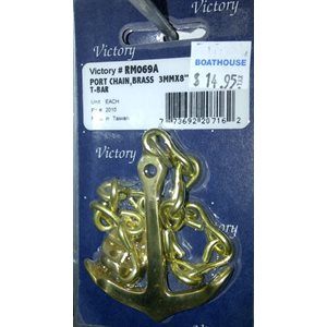 Port chain brass 3mm x 8in anchor