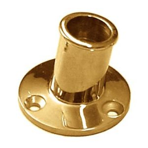 Flag pole base brass 1""