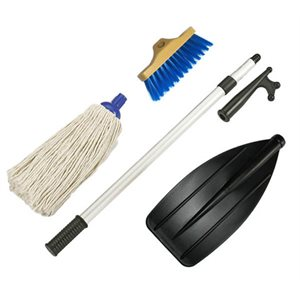 Deck brush kit  with hook and paddle 48""