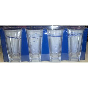 Beer glass  large 360ml 4 / pk unbreakable