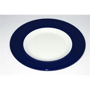 Plate 9'' white / navy each