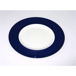 Plate 8'' white / navy each