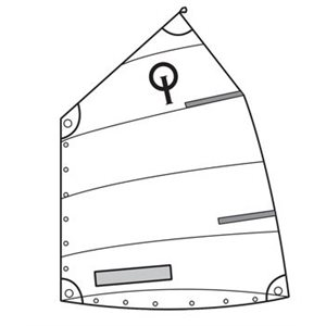 Club Opti standard sail with window