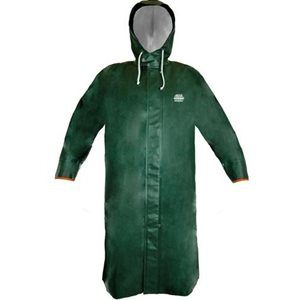 Hooded rain jacket 3 / 4 length