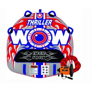 "Thriller deck tube starter kit 1 person includes pump and tow rope 50"" × 48"""