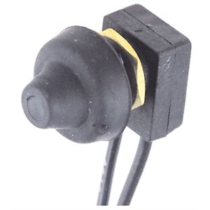Weather resistant push button switch 10 Amps at 12, 24 and 32 Volts
