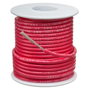 Wire 18 AWG red tinned copper 35'