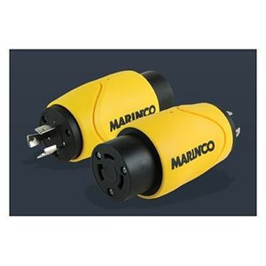 Marinco EEL Shore Power Straight Adapter 30A M - 15A F