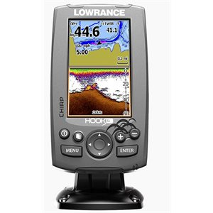 "Hook-4 DSI fishfinder / GPS 4"" mid / high / downscan with US / Can nav+ card"