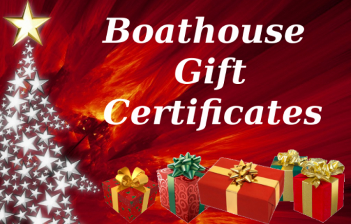 Boathouse gift certificates